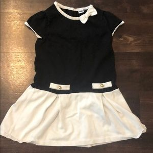 Janie and Jack black and white dress size 5